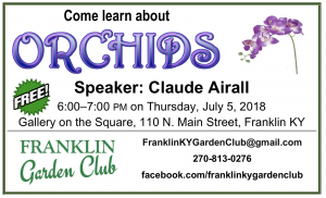 Flyer for Event about orchids