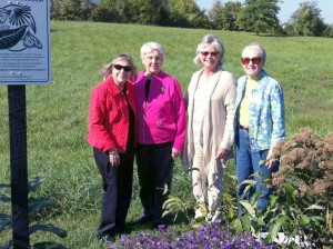 Linda Porter, Linda Gillespie, Joanna Kirby, and Judy Cleaver at Millerburg's Waystation